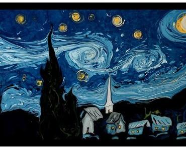 Garip Ay malt einen Van Gogh in einer Wasserschüssel