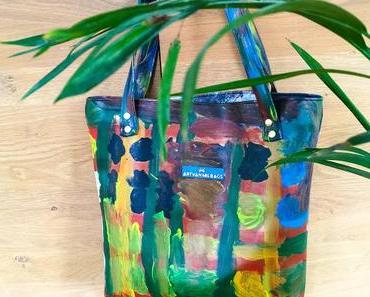 Paradiestasche – Kunstleder bemalen – mit Kindern kreativ sein