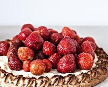 Mürbteig Tart mit Ricotta-Füllung + Erdbeeren