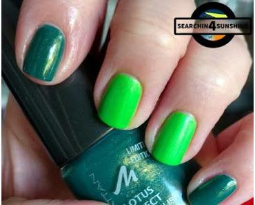 [Nails] Stamping- & Vinyl-Fail mit china glaze 1089 I'M WITH THE LIFEGUARD & MANHATTAN 006 PALM LEAF