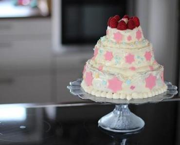 3 stöckige Torte selber machen mit Buttercreme - ganz einfach