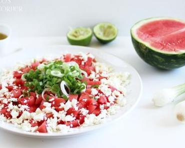 Wassermelonensalat mit Feta - Sommer auf dem Teller