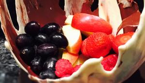 Schokoschale Früchten