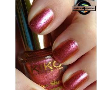 [Nails] Mädchenzeit 2.0 mit KIKO Sun Show nail lacquer 468 Samba Pink