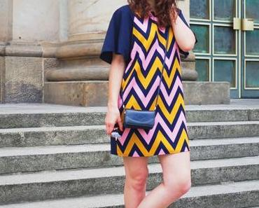Traffic People Chevron Dress