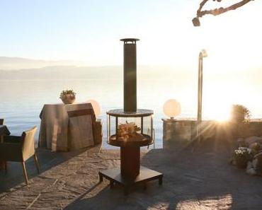 Outdoor Kamin mit Flair – Rüegg SURPRISE mit SCHOTT ROBAX Glas