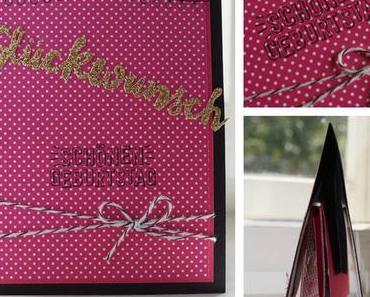 Popup Karte in schwarz, pink, gold