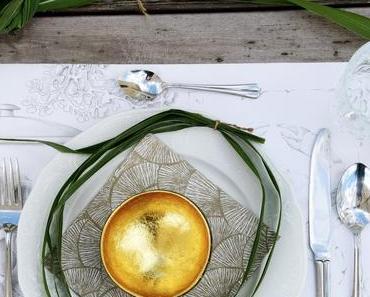 Tischdeko mit Schilfgras, DIY-Tischsets und XXXL
