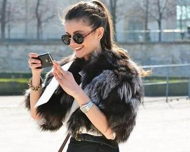 Streetstyles bei der Paris Fashion Week