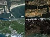 Katastrophe Japan. Google Earth Maps zeigen Vorher-Nachher Bilder.