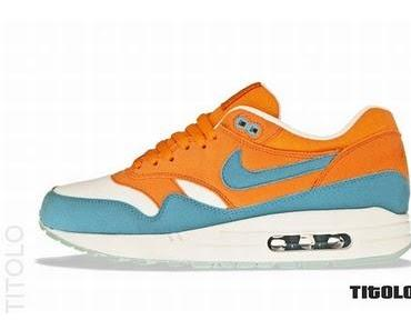 Nike Air Max 1 – Orange/Hellblau
