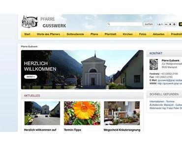 Neue Pfarrwebseite der Pfarre Gußwerk