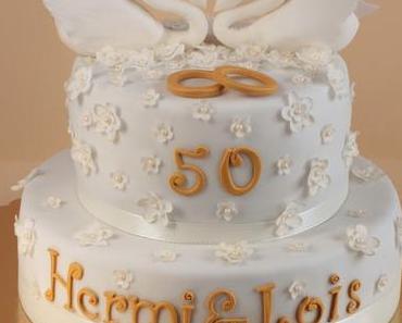 Hochzeitstorte zum 50. Hochzeitstag