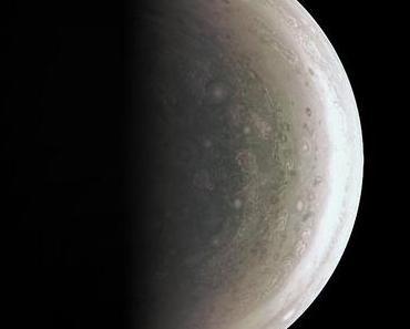 Der Nordpol des Königs der Planeten Jupiter