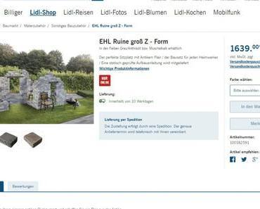Romantische Garten Ruinen bei Lidl
