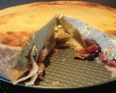 Käsekuchen mit Pflaumen Low Carb und glutenfrei