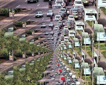 Verkehrschaos in Bukarest und keiner will aufs Auto verzichten