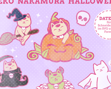 Neue Plotterdateien: Neko Nakamura Halloween Set