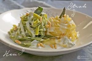 Stroh und Heu (Pasta mit Gorgonzola-Soße)