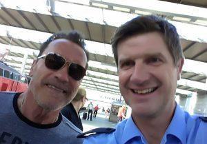 Arnie in München – the Terminator has landed