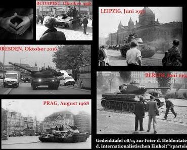 Tag der Deutschen Einheit in Dresden: Panzer und Bürgerproteste