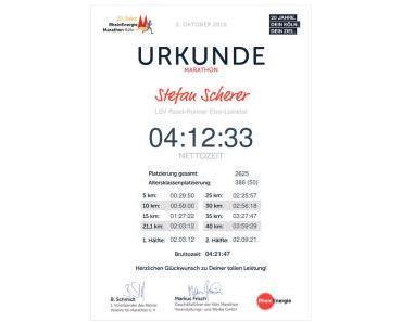 Köln Marathon: Läuft bei mir – nicht so wirklich!
