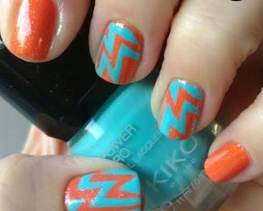 [Nails] OPI hi, Pumpkin! & KIKO 37 Ocean