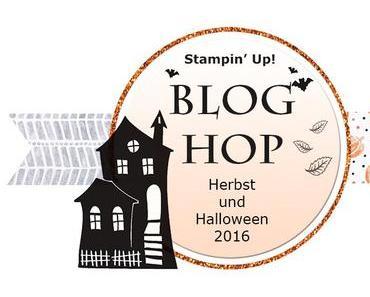 Stampin' Up! Herbst-/ Halloween Blog Hop mit einer Triangel Tri-Fold-Card {und Anleitung}