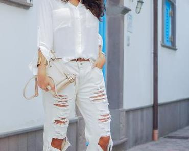 All White Holiday Outfit