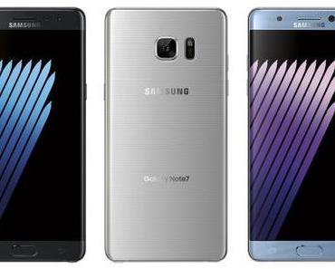 Samsung Galaxy Note 7 : Verkauf und Produktion werden beendet