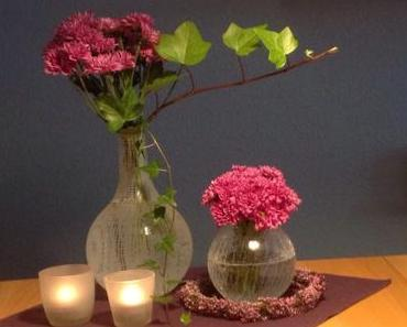 Friday-Flowerday – oder – Kann was: Ein Bund Chrysanthemen