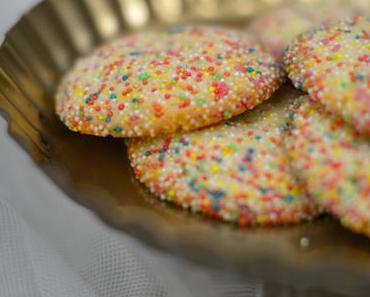 Bunte Zitronen-Cookies