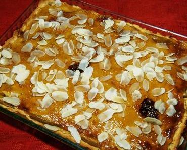 Birnenkuchen mit Birnendicksaft (ovo-lacto-vegetarisch)