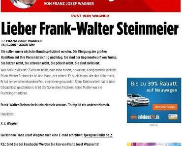 Vollpfosten des Tages: F.J. Wagner (Bild)
