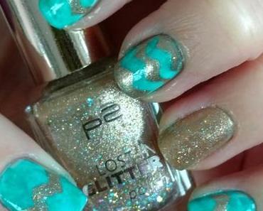 [Nails] NailArt-Dienstag: CHEVRON mit mint & gold