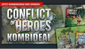 Spiele-Offensive Aktion Conflict Heroes Kombideal