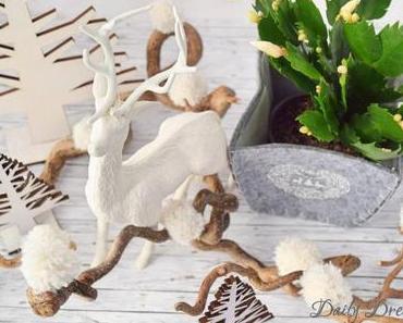 winterliche Schneebälle aus Wolle – Pomponsliebe