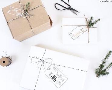 DIY Etikett auf Geschenkpapier malen + danke an Newsletter-Follower