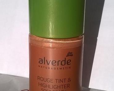 Alverde Rouge Tint & Highlighter Soft Peach + ISANA Young Reinigungs-Tücher