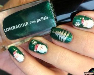 [Nails] NailArt-Dienstag: Weihnachten mit LOMBAGINE nail polish 13 x-mas green