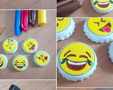 [diy] Emoji Magnete aus Kronkorken