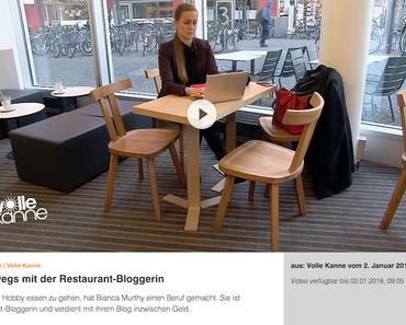 """Januar 2017: TV-Beitrag im ZDF-Servicemagazin """"Volle Kanne"""" -  Alltag einer Bloggerin und Restauranttesterin   Bianca Murthy"""