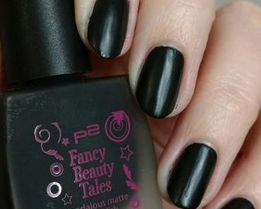 [Nails] Lacke in Farbe ... und bunt! SCHWARZ mit p2 Fancy Beauty Tales scandalous matte nail polish 010 shocking black