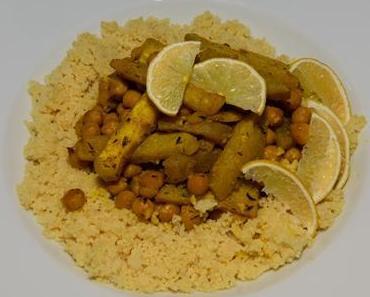 Zitronen-Couscous mit Kohlrabi-Kichererbsen-Ragout (vegan)