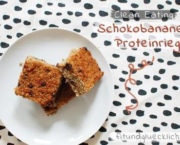 {Clean Eating} Schokobananen-Proteinriegel