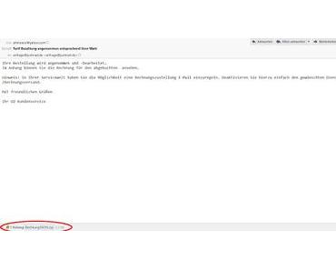Rechnung von O2 Kundenservice