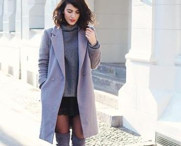 Flat Grey Over the Knee Boots