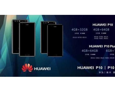 Huawei P10 (Plus): Leak verrät alle Varianten und Preise
