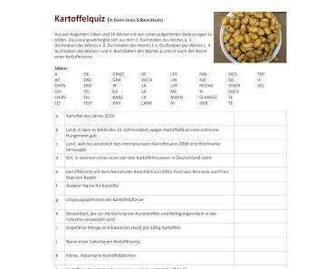 Rätsel Nr. 4: Kartoffelquiz mit Gewinnspiel
