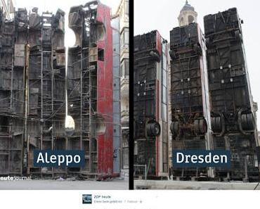 Peinlich und skandalös: Aleppo-Mahnmal in Dresden hat dschihadistischen Hintergrund